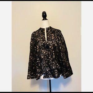 Joseph Ribkoff Cross Hatch Embroidered Lace Jacket